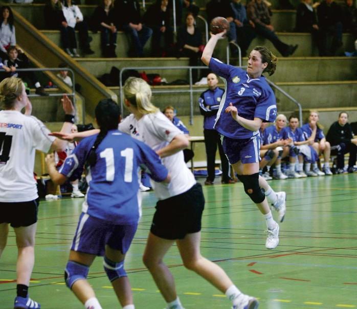 Michaela Sjöstrand hette en av målskyttarna för Nödinge SK som i söndags tog klivet upp i division två.