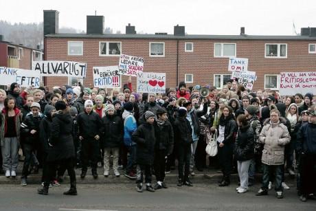 Ungdomarna protesterade förgäves