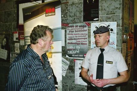 Bevakningsföretaget Securitas medverkade på Jobbmässan i Ale gymnasium.