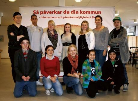 Ale Ungdomsråd 2011. Påverkanstorget valde delar av ungdomsrådet i ett demokratiskt val.