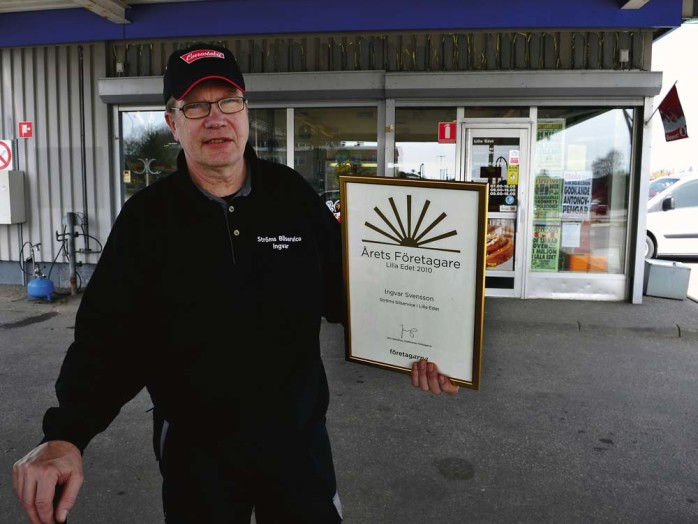 Årets företagare 2010 blev Ingvar Svensson på Ströms bilservice.