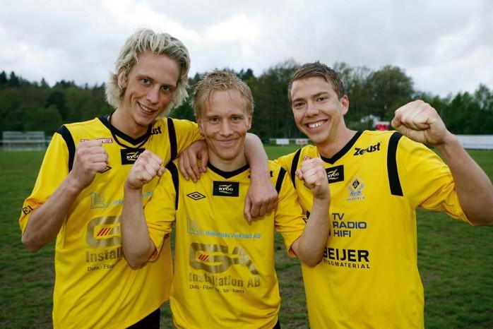 Triss i målskyttar. Rasmus Johansson, Henrik Andersson och Johan Elving svarade för Ahlafors fullträffar i segermatchen mot Warta.