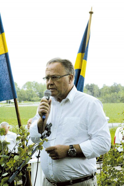 Gerhard Sager höll årets högtidstal i samband med nationaldagsfirandet i Prästalund.