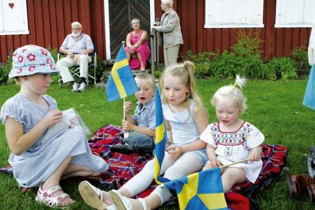 Den blågula fanan vajade på många håll i Prästalund denna varma nationaldag.