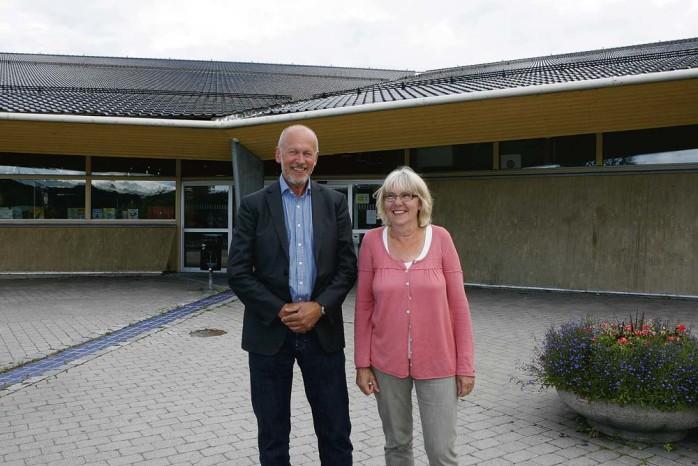 Nytillträdda. Verksamhetschefen Hans Enckell och rektorn Lola Odén antar utmaningen att få tillbaka eleverna till Ale gymnasium.