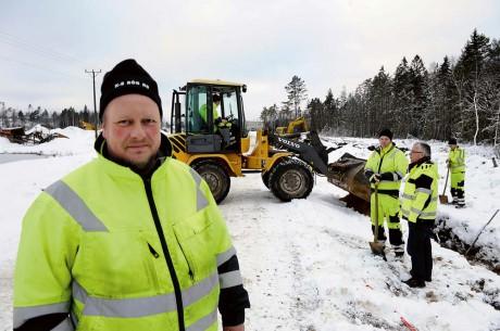 Läraren Mikael Ekström var också på plats.