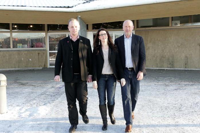 Jobbar vidare. Dennis Ljunggren (S), vice ordförande i utbildningsnämnden, Elena Fridfelt (C), ordförande i utbildningsnämnden och Hans Enckell, verksamhetschef är glada över att ansökningarna till Ale gymnasium har ökat, men lutar sig inte tillbaka.