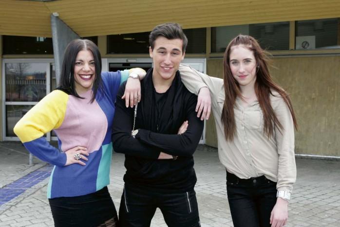 Lovar underhållning. Alexandra, Sabi och Emelie är årets konferencierer på Festivalborg.