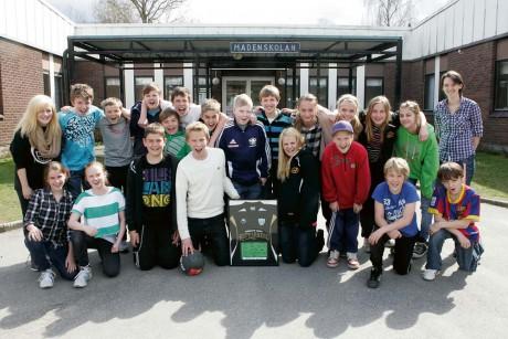 Madenskolan klass 6A blev i fredags distriktsmästare i Fair Play Trophy, en av världens största inomhuscuper i fotboll.