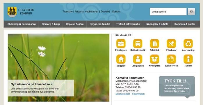 Nästa tisdag lanserar Lilla Edets kommun sin nya webbplats.