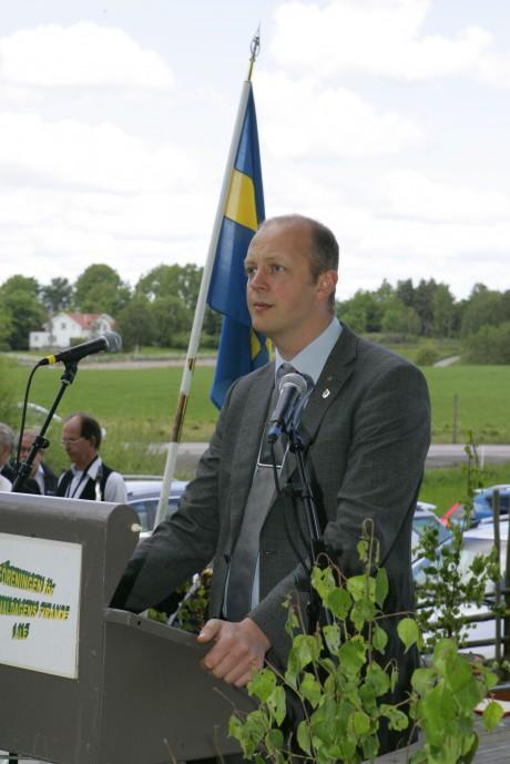 Högtidstalet hölls av kommunalrådet Mikael Berglund.