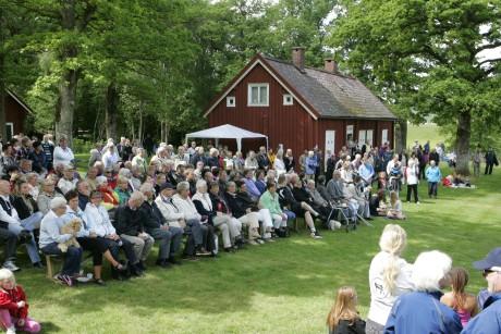 Omkring 400 personer kom till nationaldagsfirandet i Prästalund.