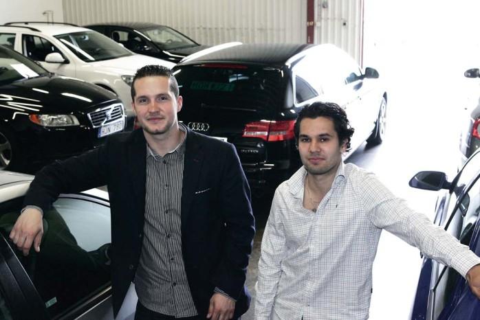 Unga företagare. Nödingekillarna Dardan Hoxha, 24 och Yassin Largo, 21 driver Bileliten i Göteborg AB i Älvängen.