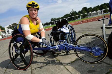 Nedräkningen har börjat. Om några veckor beger sig Gunilla Wallengren till London för att delta på sitt andra Paralympics. Gunilla är ute efter revansch efter motgången som hon tvingades uppleva i Peking för fyra år sedan. Fotograf: Allan Karlsson
