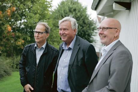 Ett efterlängtat projekt som möjliggjorts tack vare ett gott samarbete mellan Gekå Fastigheter och Lilla Edets kommun. T v Sven Karlsson, socialchef Sven Bergelind och kommunalrådet Ingemar Ottosson.