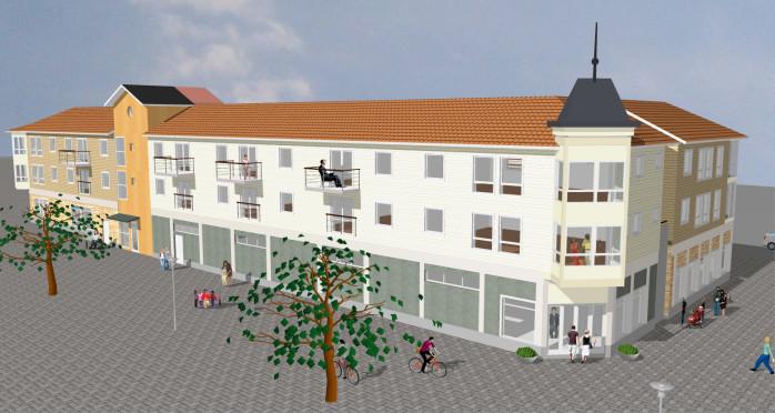 Centrumhuset ska förhoppningsvis bidra till att bryta den negativa handelsutvecklingen i Lilla Edet.