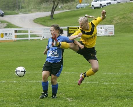 Mikaela Ögren tog för sig i anfallet.