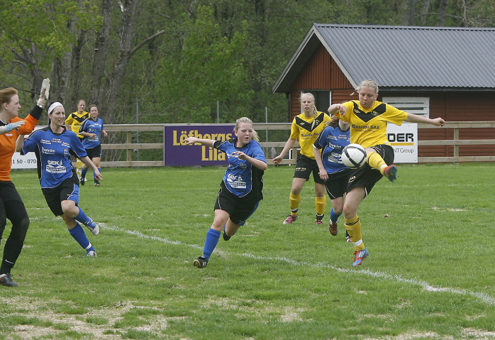 Emelie Johansson skickade in den viktiga kvitteringen efter 28 minuter. Passningen fick hon av Sandra Augustsson.