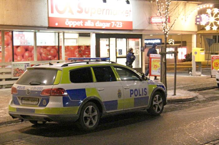 Ica Supermarket i Älvängen utsattes för ett rånförsök på måndagskvällen. Foto: Christer Grändevik