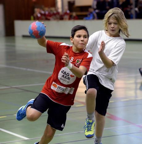 Lucas Sjöberg från Älvängenskolan visade sig vara en målskytt av rang.