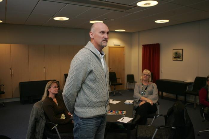 Martin Tallheden från Uspastorp Konferens- och äventyrscenter deltog på inspirationsträffen om nätverkande i kommunhuset.