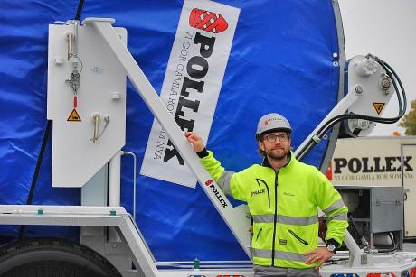 Mattias Höglund, vd på Pollex, gläds åt den utveckling som Nödingeföretaget upplever just nu.