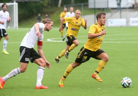 Martin Rundqvist var väldigt nära att bli matchhjälte för AIF.