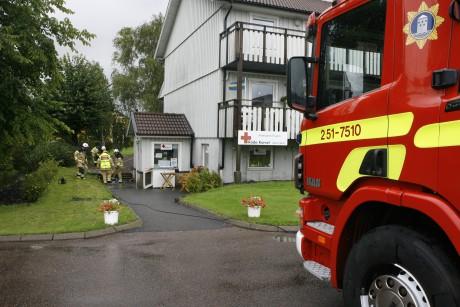 Röda Korsets second hand-butik Kupan i Älvängen drabbades av översvämning på tisdagseftermiddagen.