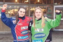 Aletjejerna Ida Friman och Ellen Ahrnberg ser fram mot att få representera Sverige i F17-VM som avgörs i Minneapolis, USA.