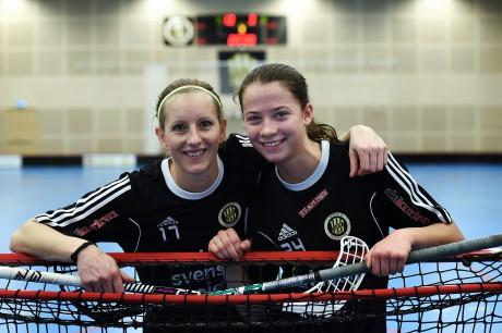 Par i tremålsskyttar. Surte IS IBK:s lagkapten Carolina Björkner och Natalie Hjertberg svarade båda för ett rikligt målskytte i utklassningssegern hemma över Guldhedens IK. Göteborgskorna fick finna sig i att förlora förra veckans båda matcher mot Surte med totalt 25-6.