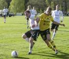 Ahlafors IF och Michael Hintze stoppades av Skoftebyn i andra halvlek.2-0-ledning förvandlades till förlust 2-4.