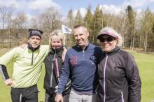 "Trivdes på golfbanan gjorde Claes Gustafsson, Christina Schmeikal, Peter ""Erra"" Eriksson och Christina Mossberg."