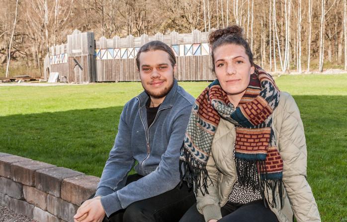 Markus Andersson och Malin Holström från Ljudaborg Kulturförening håller i trådarna för Lödöse Medeltidsdagar som kommer att äga rum lördag-söndag 4-5 juni.