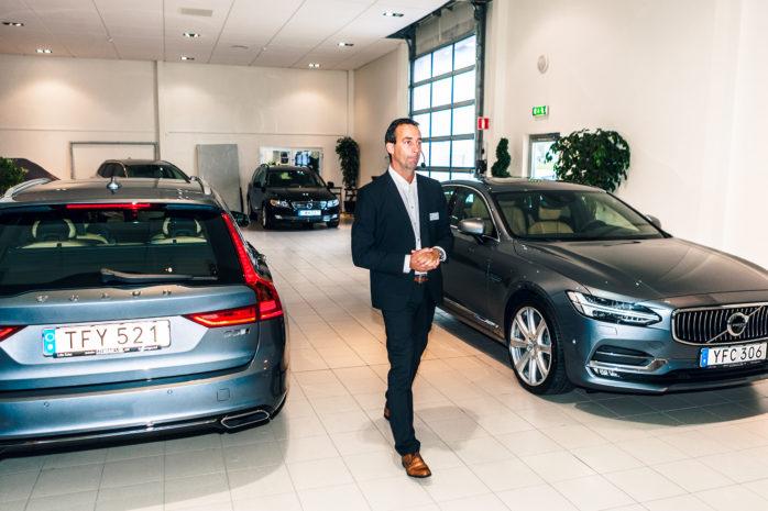 Peter Karlsson, produktchef för premiumsegmentet på Volvo, presenterade nya S/V90 i samband med fredagens företagslunch på Stendahls Bil i Lilla Edet.