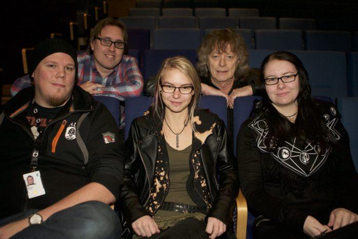 Planerar för Alerocken Retrofestival lördagen den 10 juni gör Oscar Petersson, Elisabeth Nylander, Beatrice Nylander, David Rydén och Bo Jansson.
