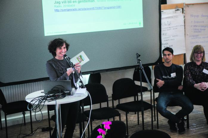 Anna Rådvik, projektledare för Mötesplats Spinneriet, berättade om Ales framgångsrika arbete med nyanlända.