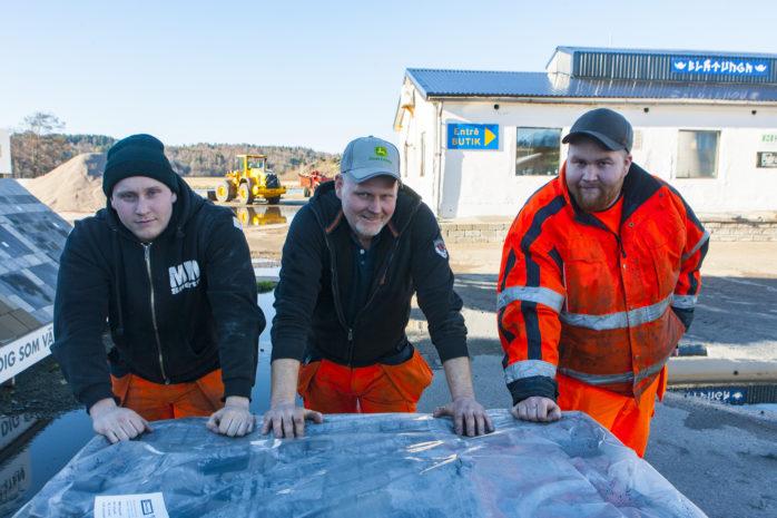 Mikael, Patrik och Niklas Niklasson på PVN Mark & Schakt, som tagit över Blåtunga i Älvängen. Nyinvigning kommer att ske i påskveckan.