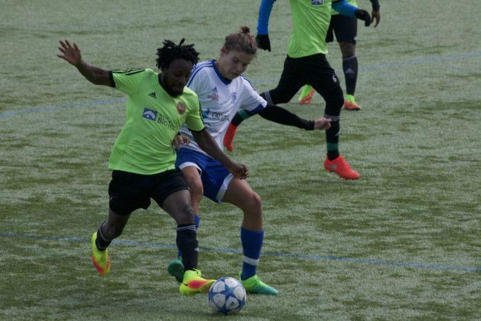 Jesper Knaving gjorde ÄIK:s mål i 1-1-matchen borta mot United Africa.