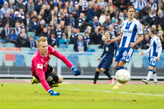 Pontus Dahlberg har gjort en stark säsong i IFK Göteborg och han minns särskilt premiären mot Malmö FF.  Arkivfoto: Daniel Stiller/ Bildbyrån.