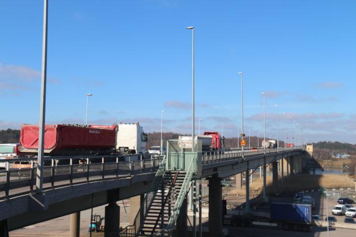 Ett planerat underhållsarbete på Jordfallsbron tar sin början efter påskhelgen. Foto: Christer Grändevik