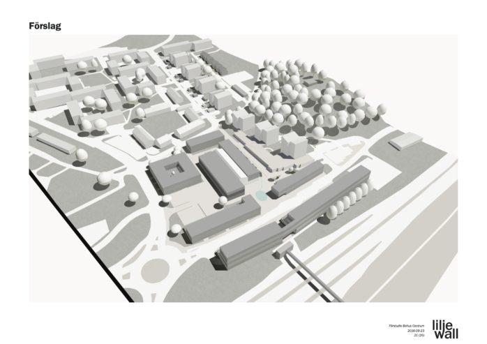 Liljewall arkitekter har visualiserat Alebyggens tankar kring hus centrala Bohus kan förädlas