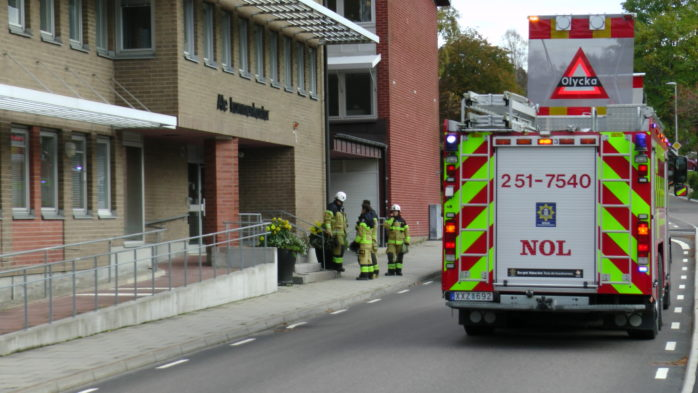 Kommunhuset i Alafors utrymdes på tisdagseftermiddagen.