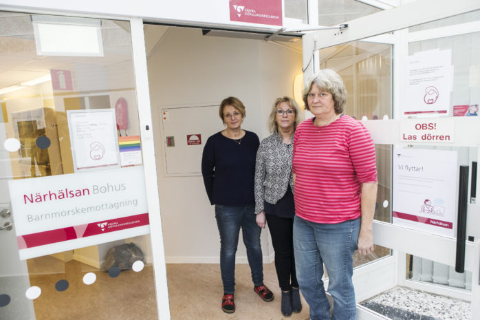 Christine Pelin, Juanita Bjursell, och Kristina Törnqvist arbetar alla på Ale barnmorskemottagning. De vittnar om en kaotisk tid efter att ha flyttat tre gånger under ett och ett halvt år. Hädanefter kommer mottagningen att finnas i Skepplanda.