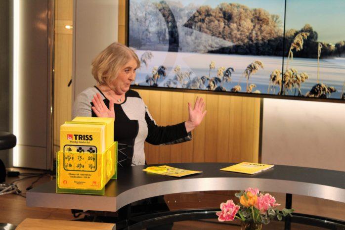 Annica Pettersson från Lilla Edet skrapade hem miljonvinsten på Triss. Pressfoto.