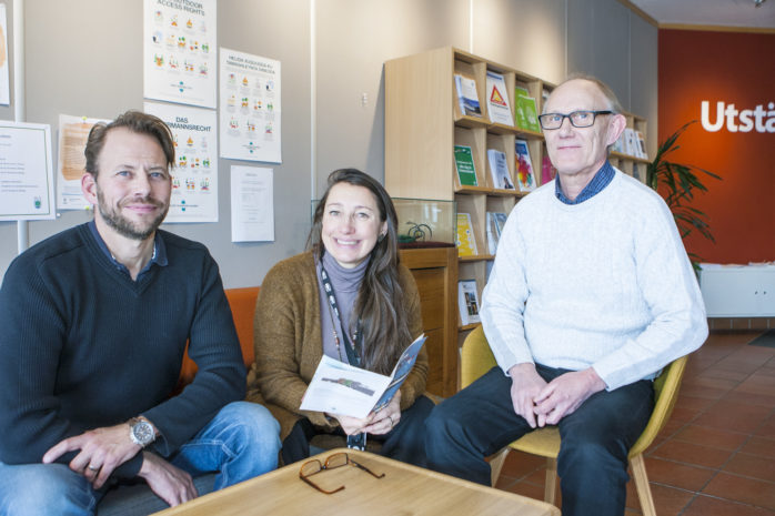Mattias Mattsson, Älvängens Företagarförening, Pia Areblad, näringslivschef, och Lars Lindström, mark- och exploateringschef, hoppas på en välbesökt och konstruktiv företagarfrukost i Älvängen onsdagen den 14 mars.