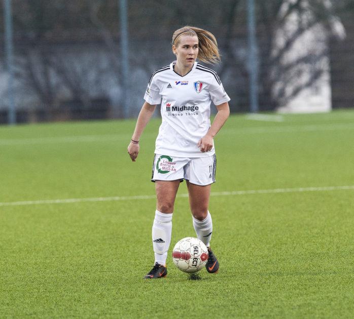 Matilda Johansson gjorde ett av LNIK:s mål i matchen mot Qviding. Arkivfoto.