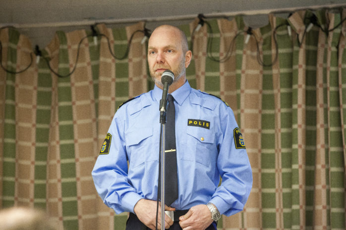 Kommunpolis Daniel Hjerpe.