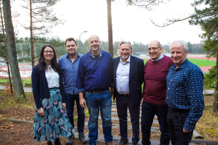 Elena Fridfelt (C), Tyrone Hansson (FiA),  Mikael Berglund (M),  Stefan Ekwing (L),  Claes-Anders Bengtsson (KD) och Sonny Landerberg (MP).