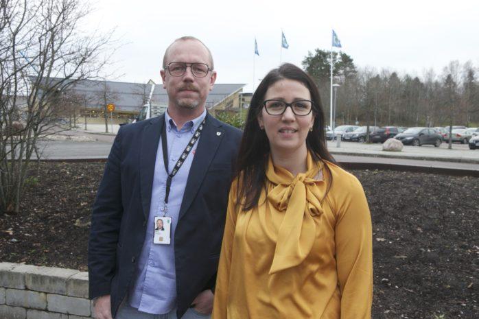 Elena Fridfelt (C) och Dennis Ljunggren (S).
