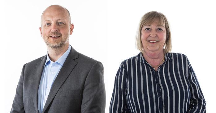 Kommunalråden Mikael Berglund (M) och Monica Samuelsson (S).